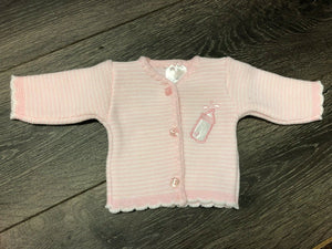 Tiny Baby or Premature Baby Girl's Cardigan
