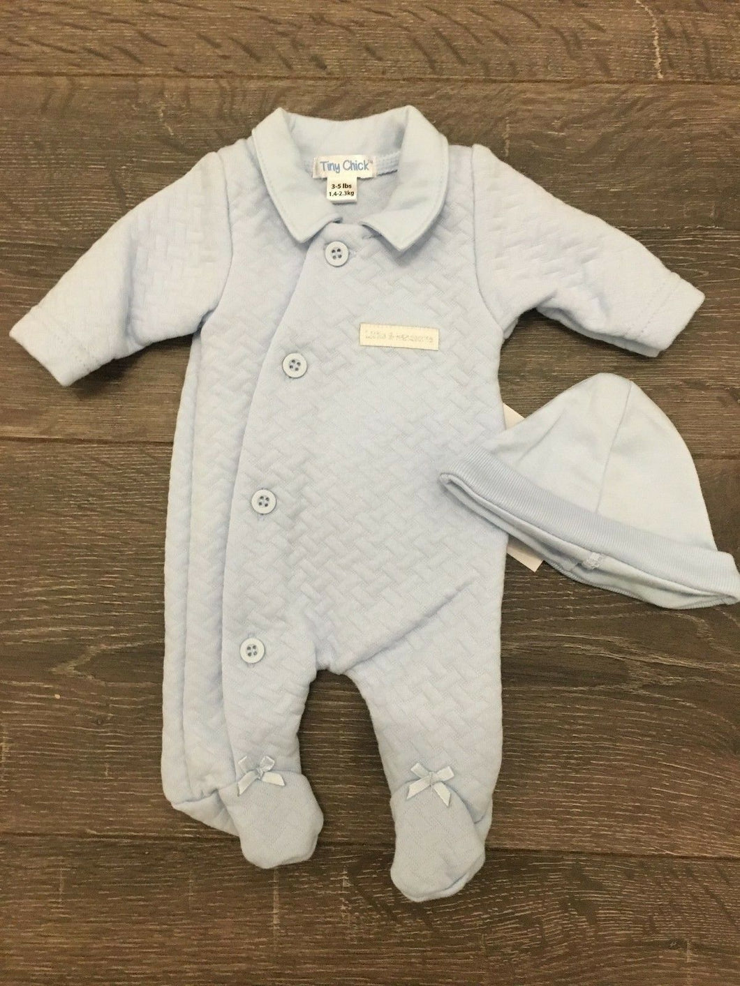 Tiny Baby & Premature Baby Boy's 2 Piece Pale Blue