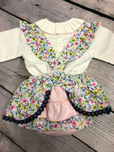 Girls Spanish Romany Style Frilled Baby Girl's Floral Outfit