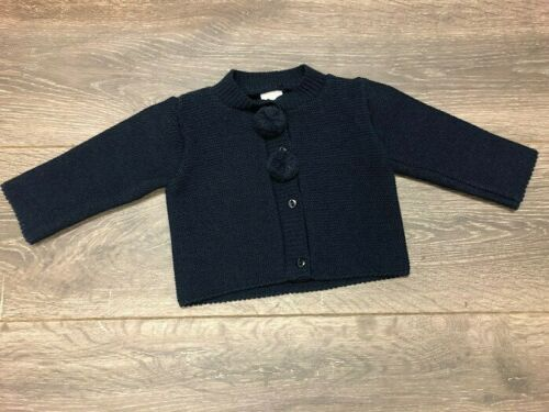 Baby Boy's or Girl's Thicker Cardigan Navy Blue with Bobbles