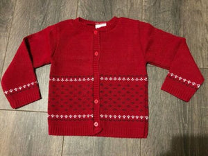 Baby Boy's Cardigan Navy Blue Red