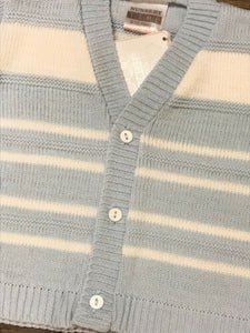 Baby Boy's Cardigan Pale Blue & White
