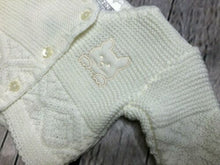 Load image into Gallery viewer, Tiny Baby or Premature baby cardigan in Ivory