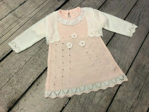 BABY GIRL'S SPANISH STYLE LIGHTWEIGHT DRESS WITH BOLERO CARDIGAN