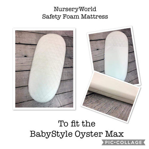 Replacement Safety Foam Pram Mattress Fits Oyster Oyster 2 or Oyster Max Carrycot Pram