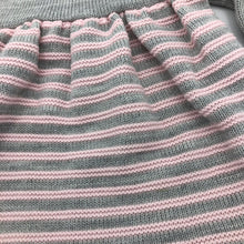 Load image into Gallery viewer, Baby Girl's Knitted Portuguese Dress & Bolero Cardigan Pink & Grey New Arrival