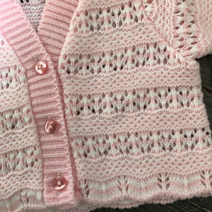 Tiny Baby or Premature Baby Boy's or Girls Cardigan in Pale Blue or Pink
