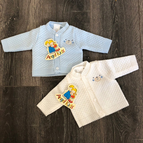 Tiny Baby or Premature Baby Cardigans Blue or White 3-5LBS 5-8 LBS