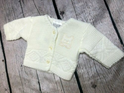 Tiny Baby and Premature baby Girl's cardigan in Cream