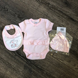 Tiny Baby Premature Baby 3 Piece Outfit Pink-Just Arrived