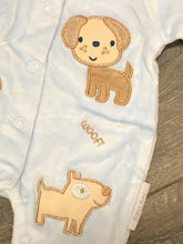 Load image into Gallery viewer, Tiny Baby Pale Blue Sleep Suit