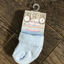 Load image into Gallery viewer, Tiny Baby or Premature Baby Socks Pink or Blue ( Pack of 2 pairs ) NEW ARRIVAL