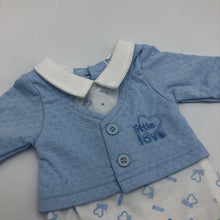 Load image into Gallery viewer, Baby Boy's Premature Baby Tiny Baby Outfit- Blue & White