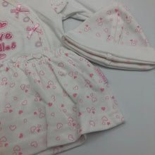 Load image into Gallery viewer, Baby Girl's Premature Prem Tiny Baby Dress & Hat White/Pink