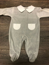 Load image into Gallery viewer, Baby Boy's or Girl's Unisex Soft Velour One Piece Sleep Suit