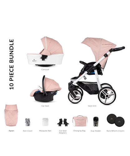 Venicci Pure Rose Pram 10 Piece Bundle
