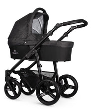 Load image into Gallery viewer, Venicci Soft Black Denim Travel System Bundle