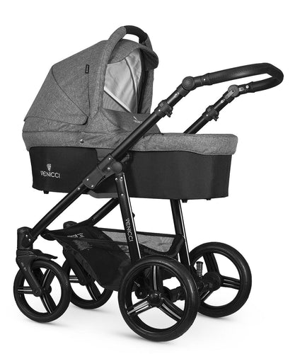 Venicci Soft Denim Grey Travel System Bundle