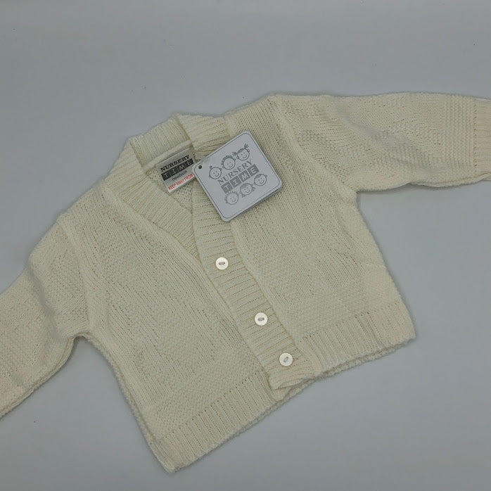 Copy of Baby Boy's White Long Sleeved Cardigan