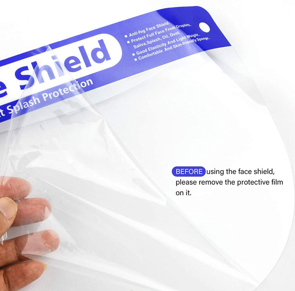 VastMedic 3 Pack Reusable Face Shields with Anti-Fog Coating