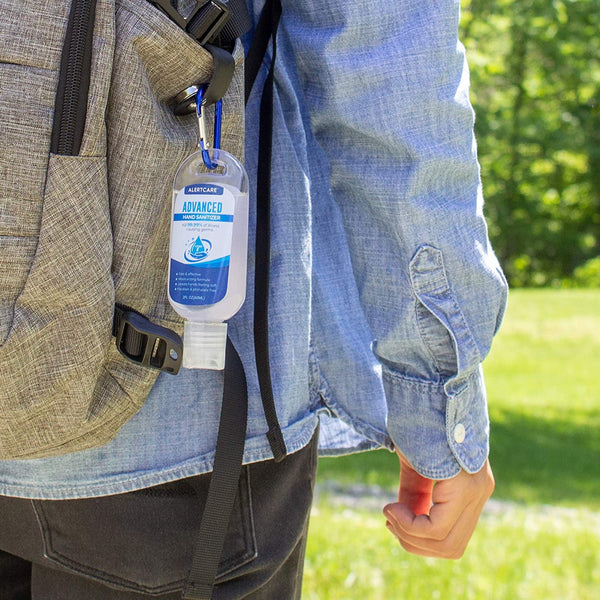 Alertcare Hand Sanitizer (4 Packs) | 2Oz Travel Size With Holder Keychain Carrier