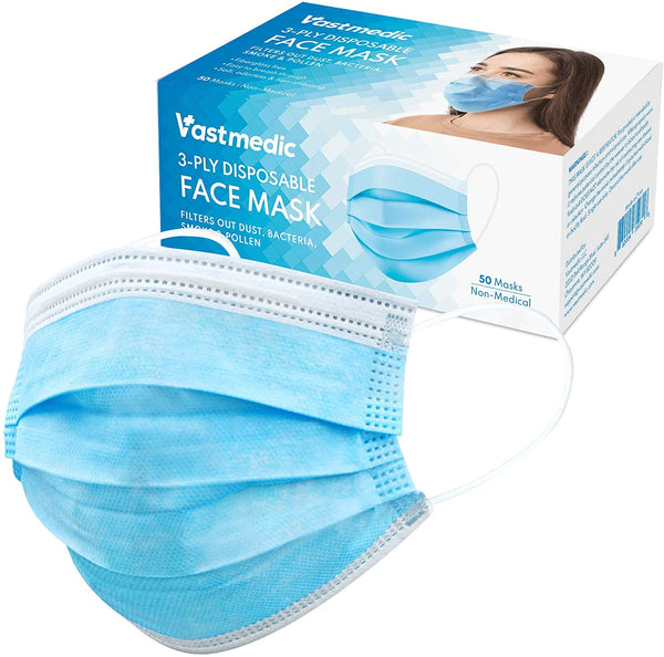 Vastmedic 3 PLY Disposable Face Masks