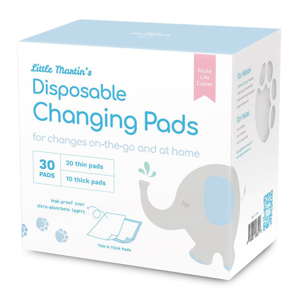 Little Martin's Disposable Changing Pads - 30 Counts
