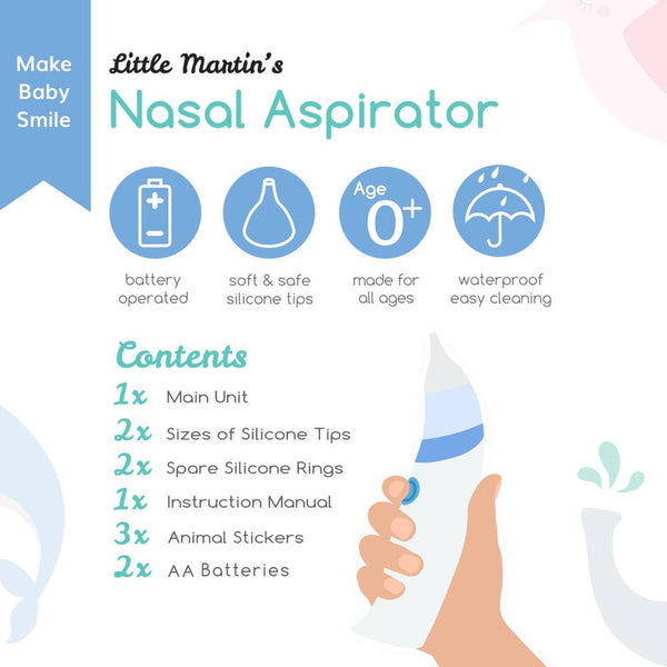 Little Martin's Baby Electric Nasal Aspirator
