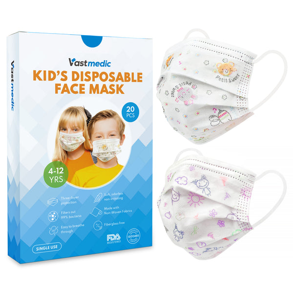 Vastmedic Kids 3-ply Face Mask 20 Pcs