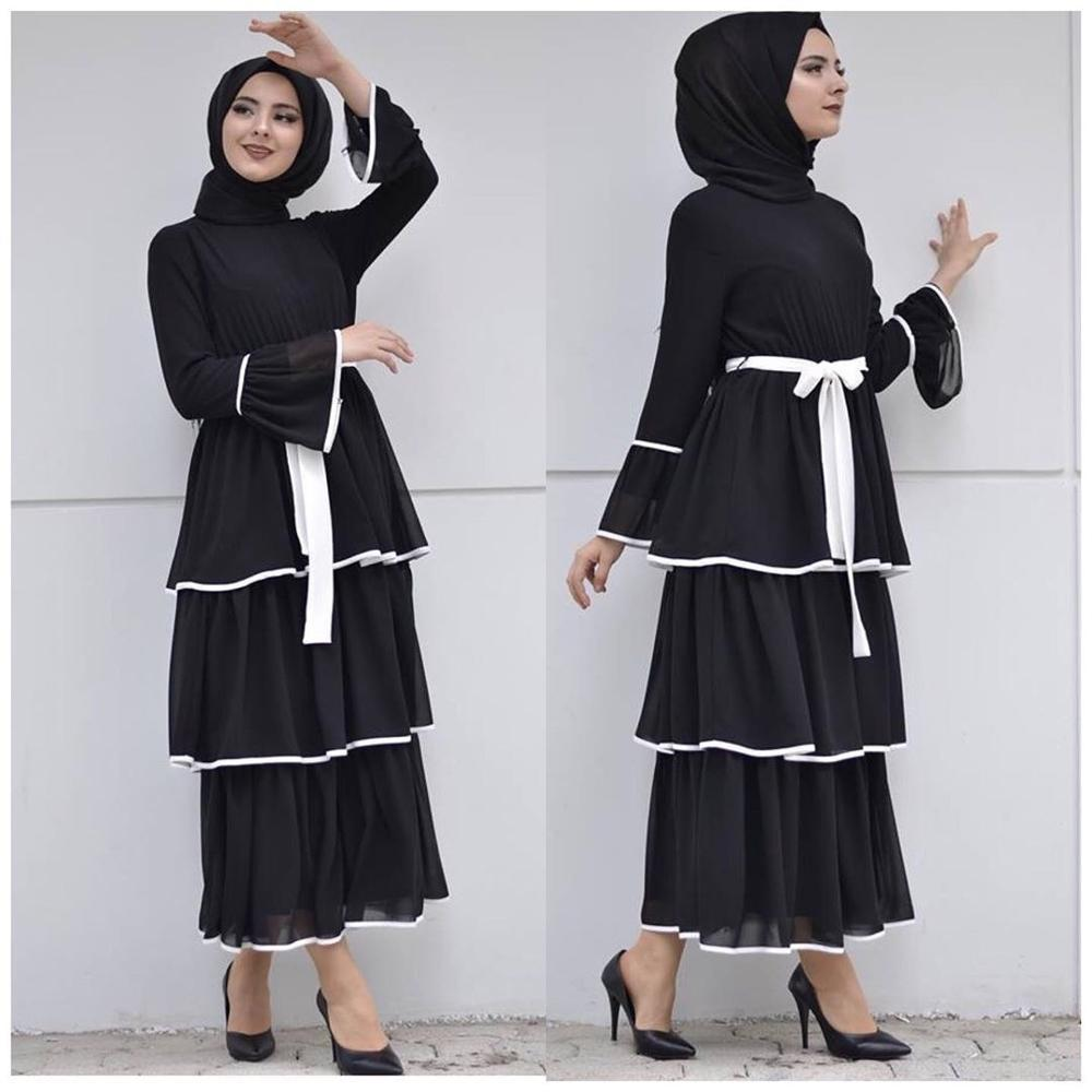 Elegant Muslim Fringed Dress Abaya