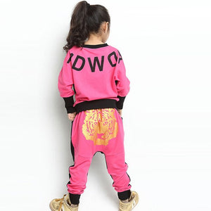 Girls Sports Hoodies Kids Clothes Suit Girls Spring Clothing Set Long Sleeve Casual Kids Boys Sets 2020 Hoodies + Harem Pants