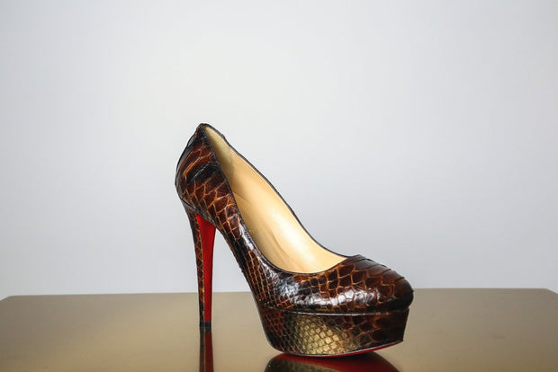 Christian Louboutin Brown Crocodile Pumps