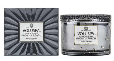 Voluspa Ebony & Peach Candle