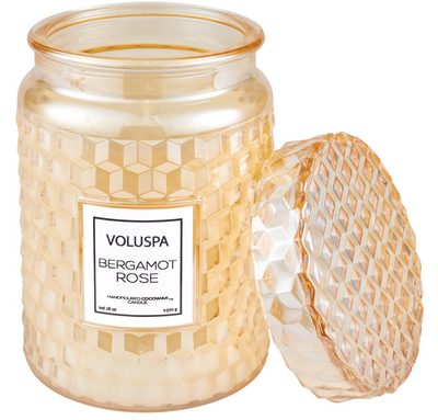 Voluspa Bergamot Rose Large Jar Candle