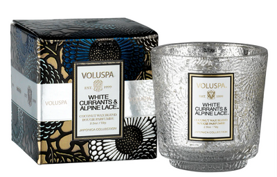 Voluspa White Currants & Alpine Lace Candle