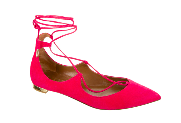 Aquazzura Suede Christy Flats