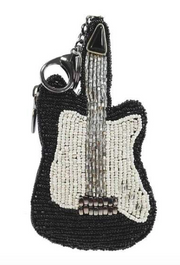 Mary Frances Electrifying Beaded Guitar Key-Fob Coin Purse