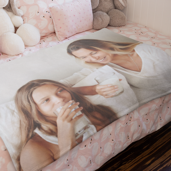 Create Your Own - Large White Fleece Photo Blanket