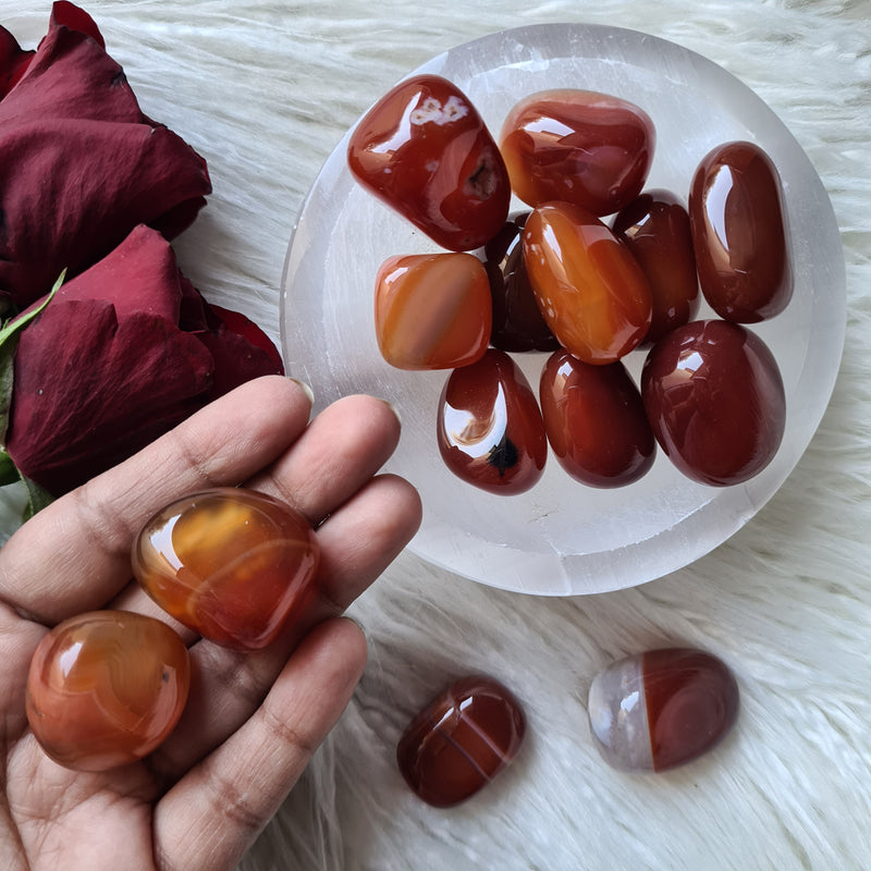 Carnelian tumble - Fire, Passion
