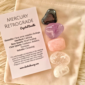 'MERCURY RETROGRADE' Crystal bundle