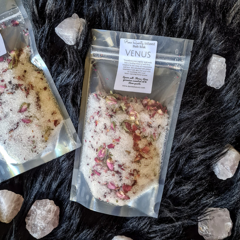 Rose Quartz infused Bath Soak - Venus