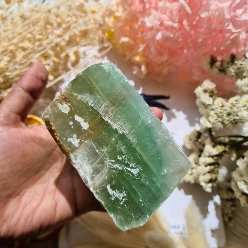 Green calcite ~ Large