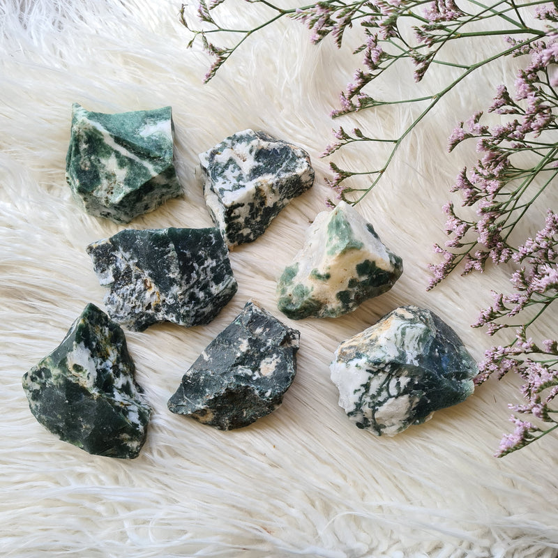 Raw Moss Agate~ Grounding