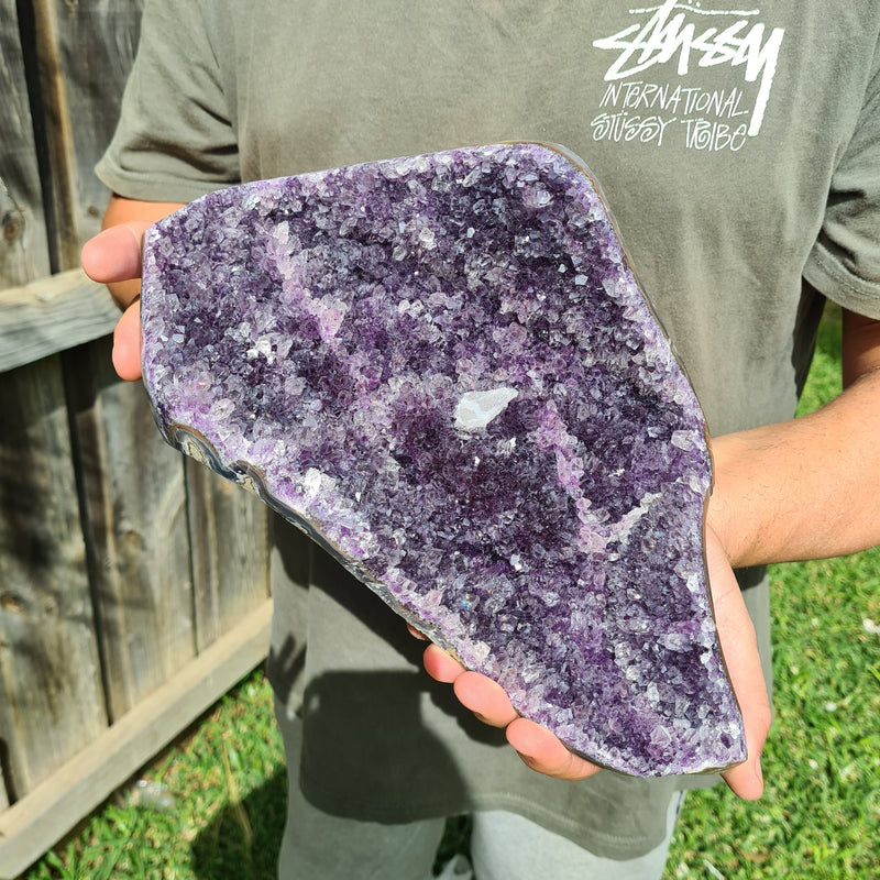 Amethyst Large cluster with Calcite inclusion