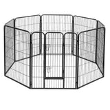 PHP 8 Panel Pet Dog Playpen Puppy Exercise Cage Enclosure Fence Play Pen 100 x 80 cm - Pet Homes Plus