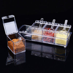 4pcs/set  Seasoning Box