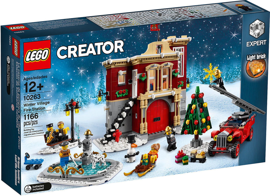 lego Winter fire station 10263