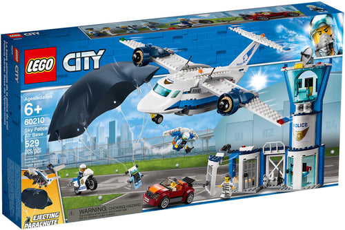 lego city 60210 base aerea polizia