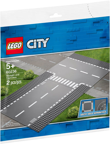 strade lego dritto e incrocio a T 60236