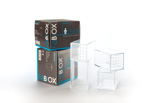 FaBIOX 6x6 Display Case (4 teche)-FaBIOX Display-Il Mattoncino